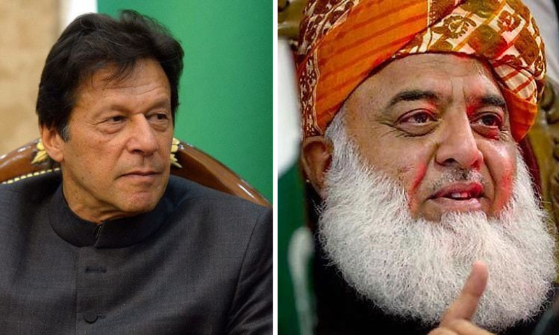 While Prime Minister Imran Khan criticised the opposition parties for insisting on holding their public meeting in Peshawar, PDM president Maulana Fazlur Rehman said the government was making desperate attempts to foil the rally. — File photo