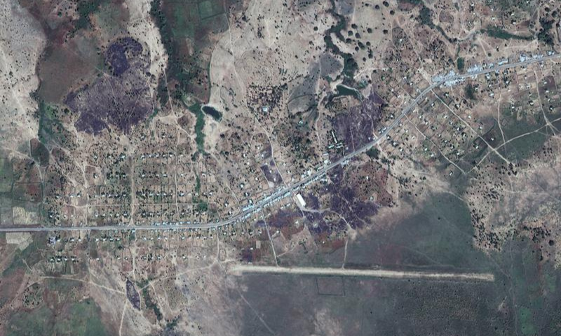 An overview of Dansha airport and destroyed buildings in Dansha, Ethiopia, is seen in this satellite image taken on November 18. — Reuters