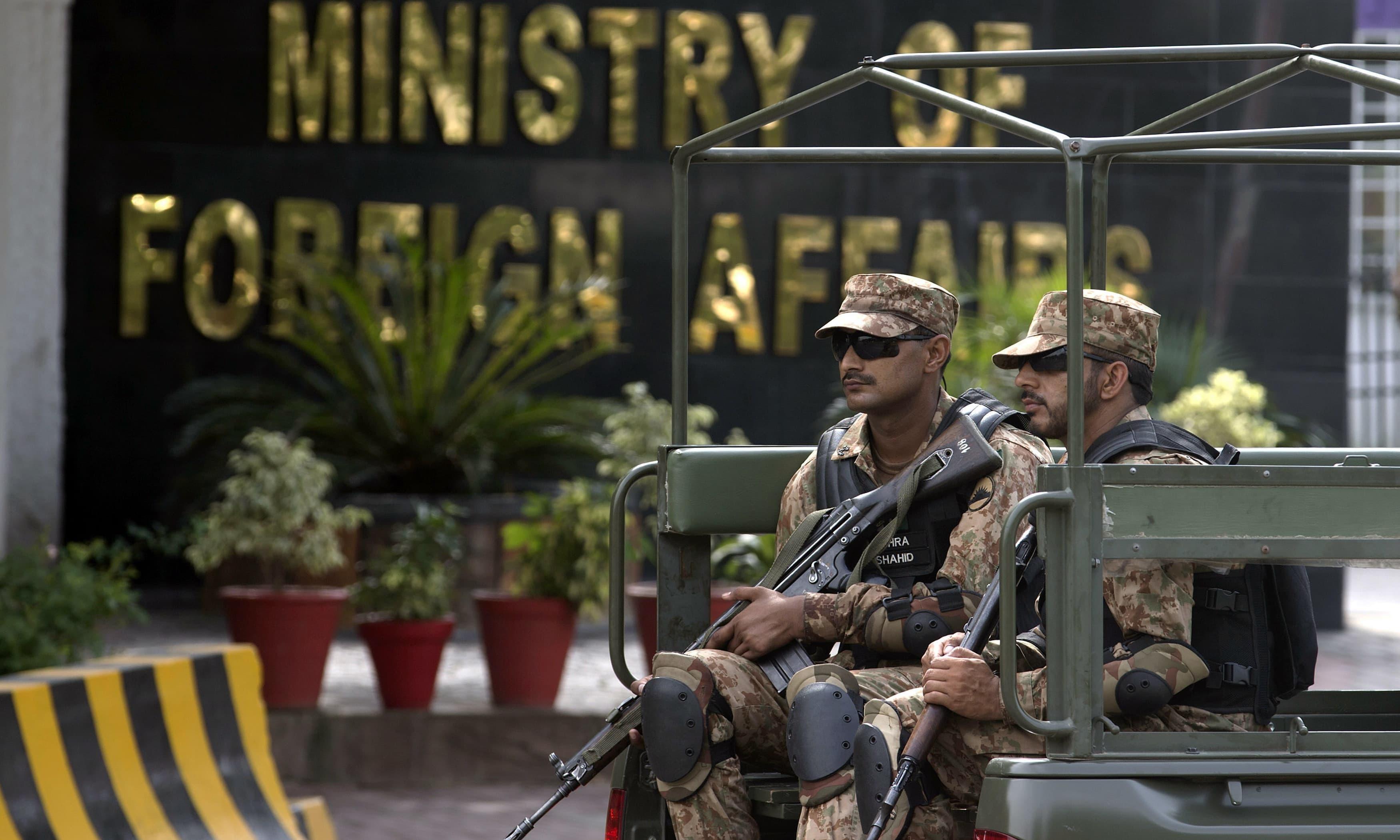 سینئر بھارتی سفارتکار کو طلب کر کے احتجاج کیا گیا— فائل فوٹو: اے پی