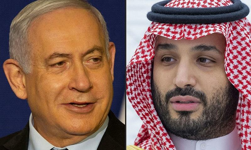 محمد بن سلمان اور نیتن یاہو سے ملاقات کی خبر اسرائیلی میڈیا نے دی تھی— فوٹو: اے ایف پی