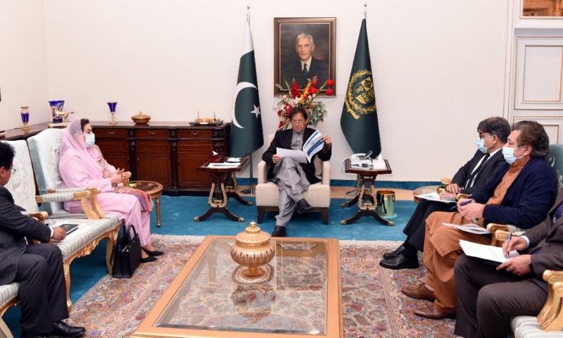 Prime Minister Imran Khan chairs a meeting on sports issues at Islamabad on Monday. — PID