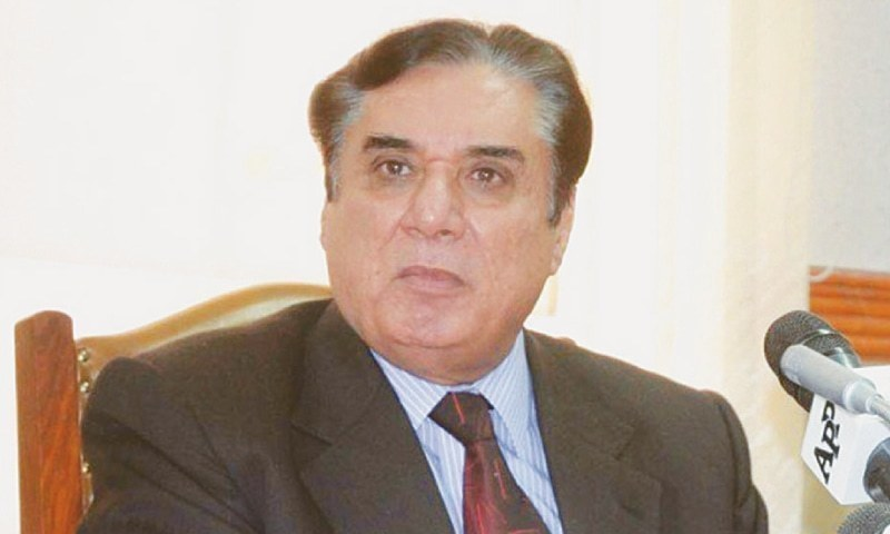 """NAB chairman retired Justice Javed Iqbal on Monday said the anti-graft watchdog had a great regard for """"valuable"""" services of the business community. — APP/File"""