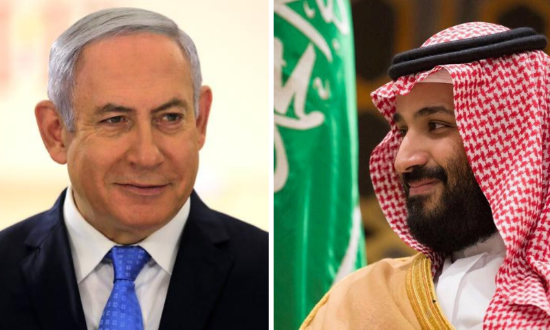 This combination file photo shows Israeli Prime Minister Benjamin Netanyahu and Saudi Crown Prince Mohammed bin Salman. — Reuters