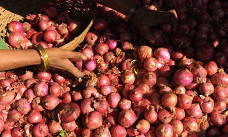 Retail prices of onions continue to remain high despite drop in wholesale prices to Rs1,200-1,300 per maund from Rs2,800 per maund. — AFP/File