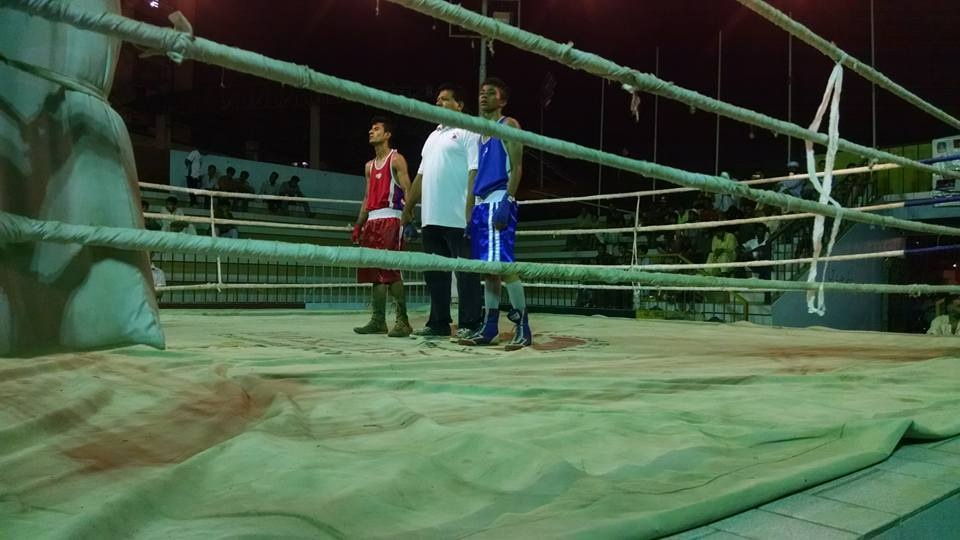 The ongoing renovation work of Ali Mohammad Qambrani Boxing Stadium at Kakri Ground, Lyari has entered the final stage of completion. — Photo courtesy Ali Qambrani Boxing Stadium FB/File