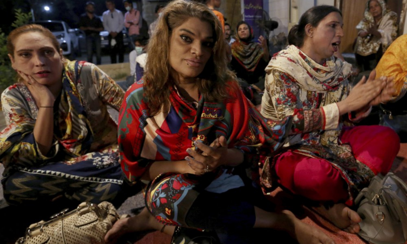 Transgender people attend a prayer service at Pakistan's first church for transgender worshippers in Karachi on Nov 13. — AP