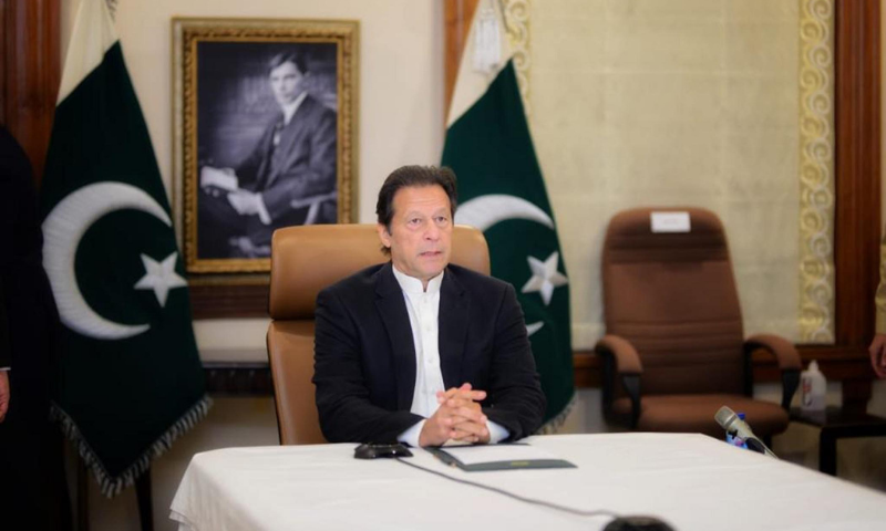 Prime Minister Imran Khan addresses the Country Strategy Dialogue on Pakistan organised by the World Economic Forum on Wednesday. — PID