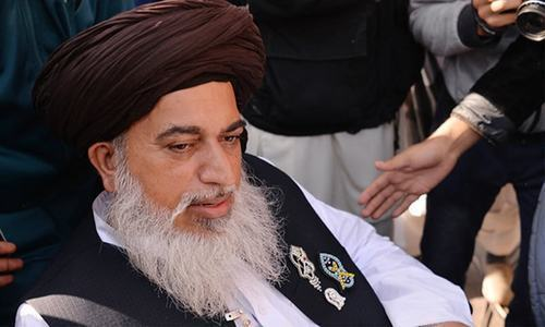 TLP chief Khadim Hussain Rizvi passed earlier this month. — Dawn/File