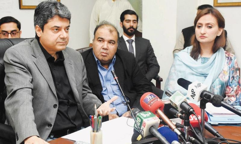 A cabinet committee meeting chaired by Law Minister Farogh Naseem approved the two anti-rape ordinances. — INP/File