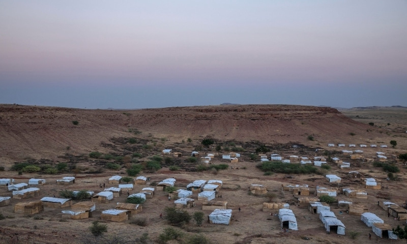 A general view of Umm Rakouba refugee camp which is currently hosting Tigray people, in in Qadarif on Nov 26. - AP