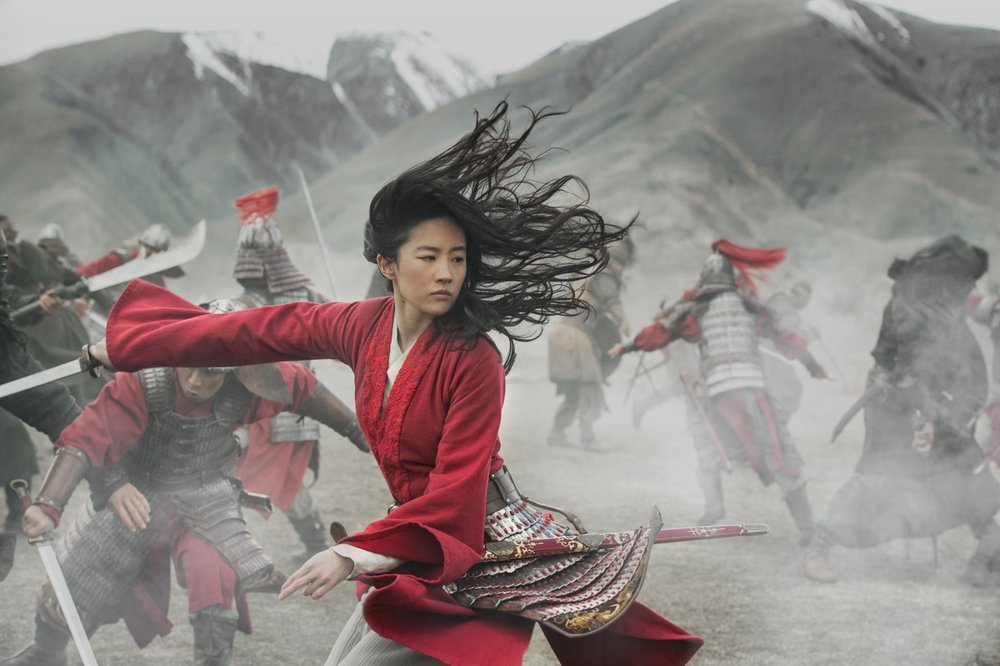 "This image released by Disney shows Yifei Liu in the title role of ""Mulan""."