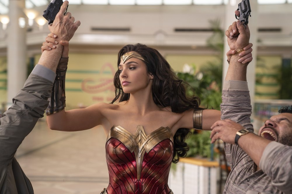 "This image released by Warner Bros Entertainment shows Gal Gadot in a scene from ""Wonder Woman 1984""."