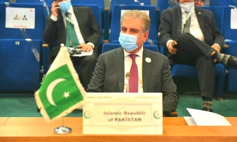 Foreign Minister Shah Mahmood Qureshi attends the 47th session of the OIC Council of Foreign Ministers in Niamey. — Photo courtesy Radio Pakistan