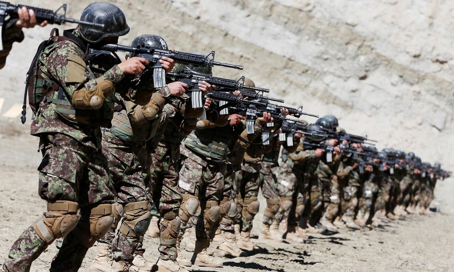 The report claimed that some bases had been completely handed over to Afghan security forces and others were vacated. — Reuters/File