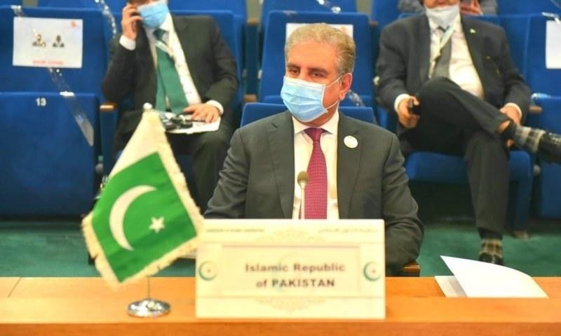 شاہ محمود قریشی نائیجر کے شہر نیامے میں منعقدہ او آئی سی کونسل برائے وزرائے خارجہ کے اجلاس میں شریک ہوئے—فائل فوٹو: ریڈیو پاکستان