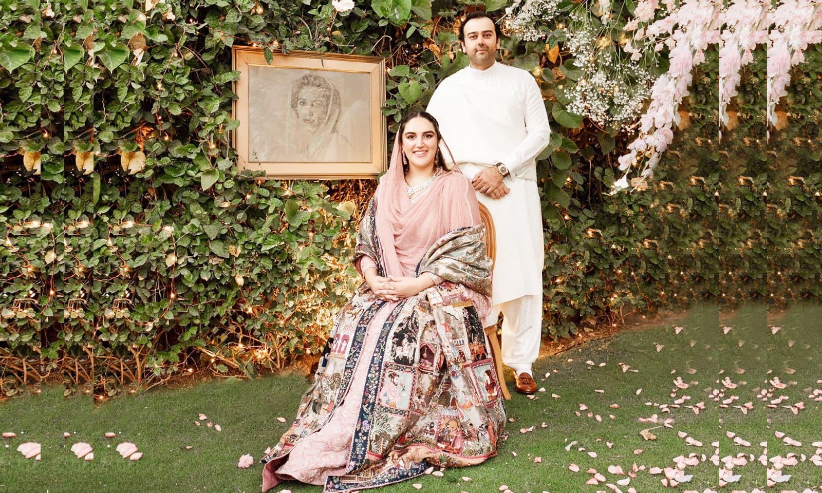 بختاور اور محمود چوہدری کی منگنی 27 نومبر 2020 کو کراچی میں ہوئی تھی—فوٹو: انسٹاگرام