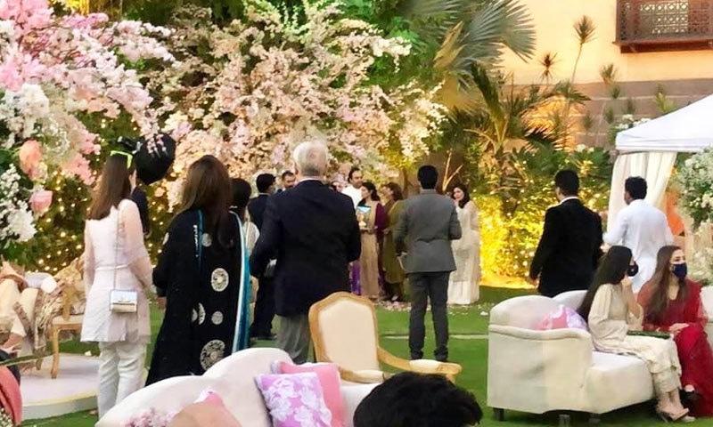 منگنی کی تقریب بلاول ہاؤس کے لان میں منعقد کی گئی—فوٹو: ٹوئٹر
