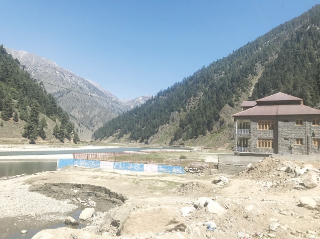 The illegally constructed NHA rest house near Naran currently lies sealed