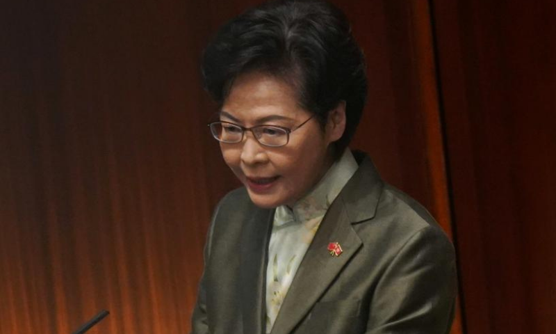 """Hong Kong leader Carrie Lam said she has  """"piles of cash"""" at home as she has no bank account after the United States slapped sanctions on her in response to a draconian security law China imposed on the city. — Reuters/File"""