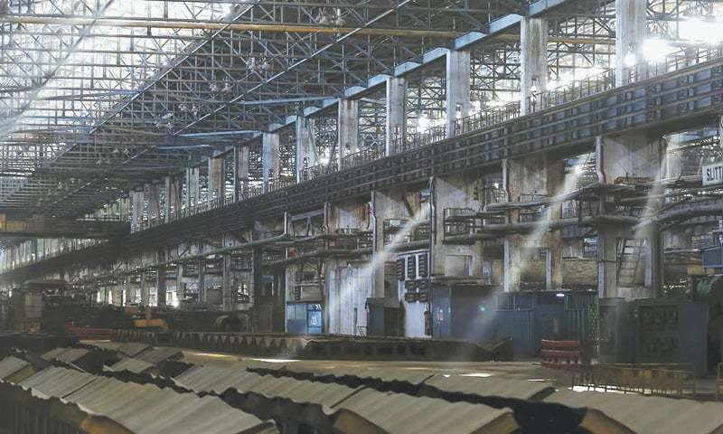 A view of the deserted Pakistan Steel Mills. — File photo