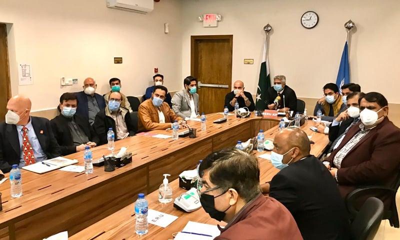 معاون خصوصی نے پولیو کے حوالے سے اعلیٰ سطح کے اجلاس کی سربراہی کی—تصویر پاک فائٹ پولیو ٹوئٹر