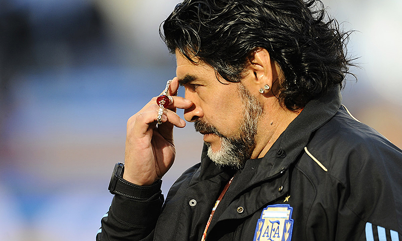 Soccer star Diego Maradona died at the age of 60 of a heart attack on Wednesday. — AFP/File