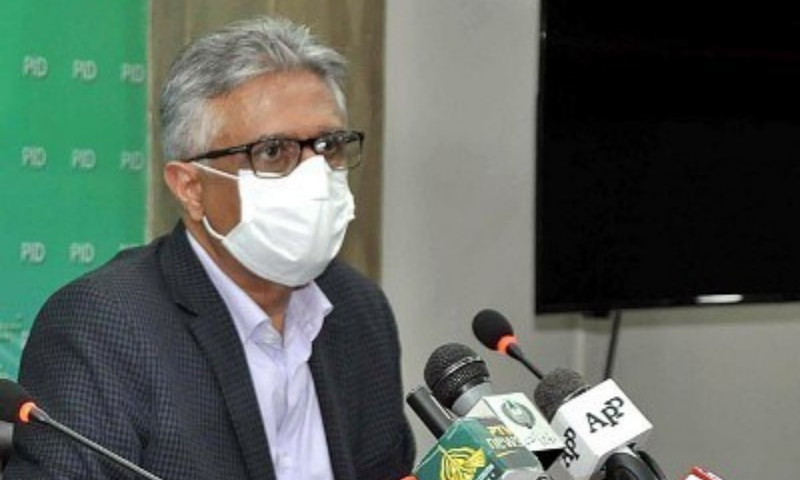 In this file photo, Special Assistant to the Prime Minister on Health Dr Faisal Sultan addresses the media. — APP