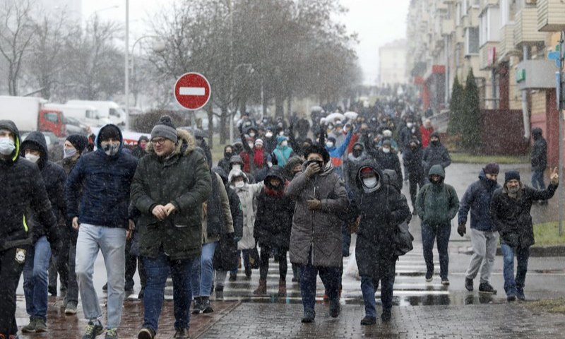 Anti-government protests continue in Belarus