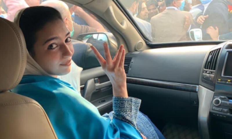 آصفہ بھٹو زرداری نے پیپلزپارٹی کی ریلی کی قیادت کی—تصویر: سوشل میڈیا