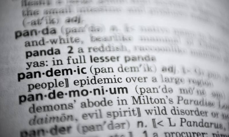 دو آن لائن ڈکشنریز نے 'عالمی وبا' کو ورڈ آف دی ایئر قرار دے دیا