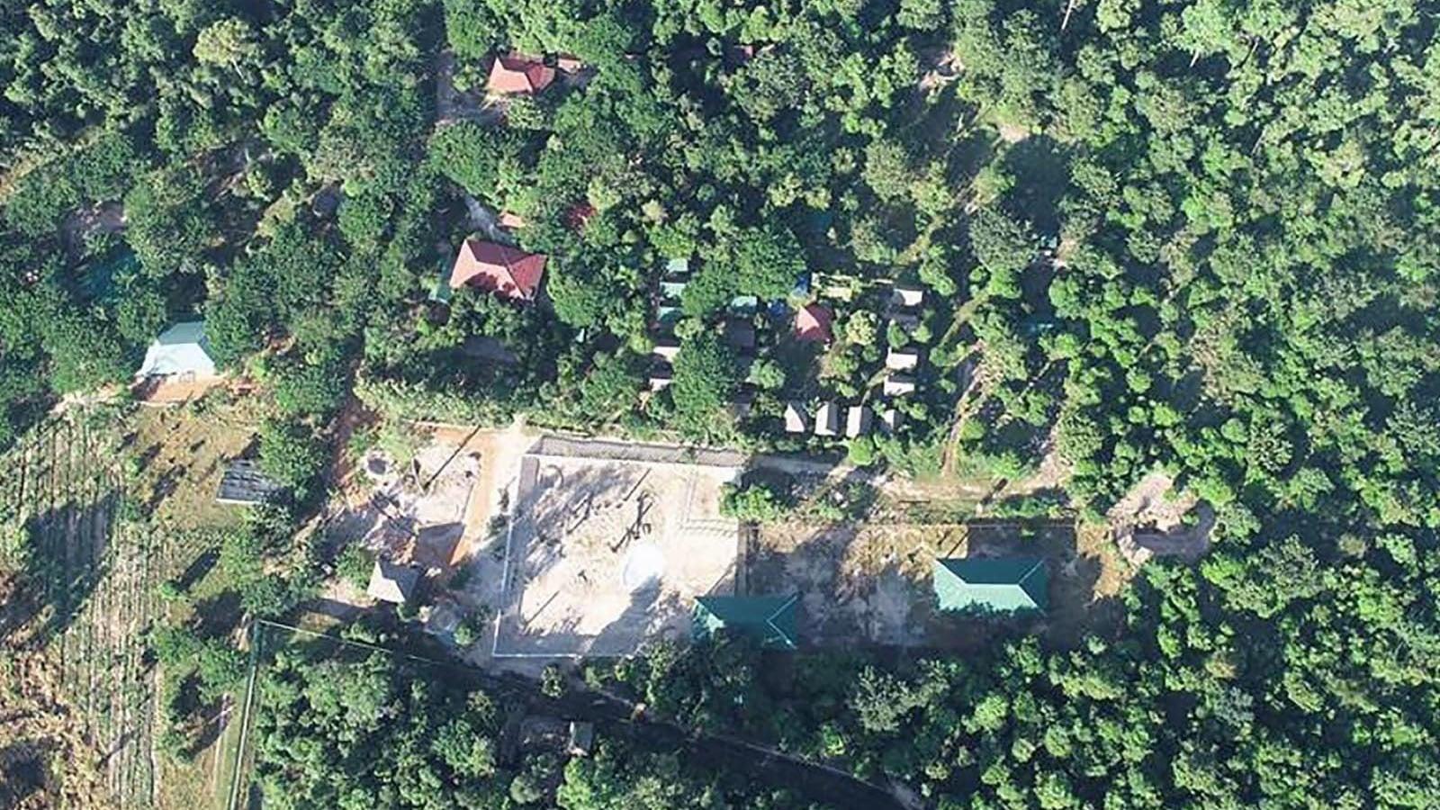 اس جگہ کا فضائی منظر جہاں کاون کو رکھا جائے گا—فوٹو: اے ایف پی