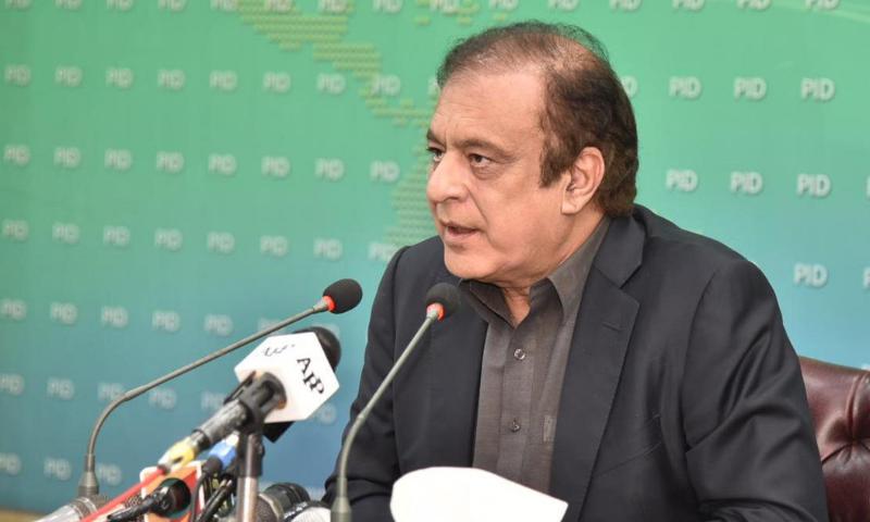 Information Minister Senator Shibli Faraz addresses a presser in Islamabad on Monday. — PID