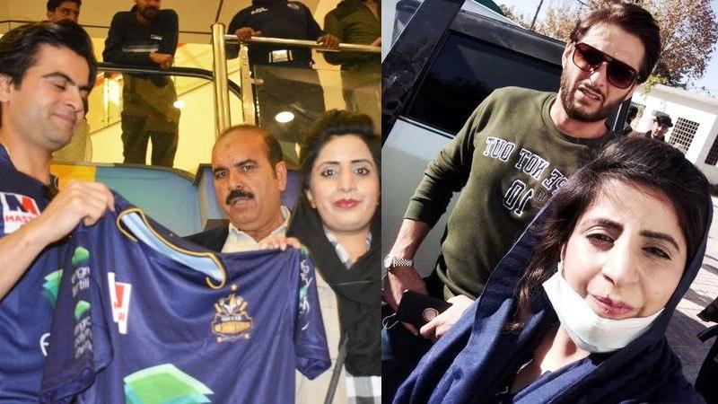 مہک شاہد نے شاہد آفریدی اور احمد شہزاد کے انٹرویو بھی کیے ہیں—فائل فوٹو: مہک شاہد فیس بک