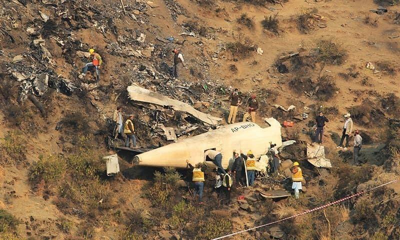 چترال سے اسلام آباد جانے والا پی آئی اے کا جہاز 7 دسمبر 2016 کو حویلیاں کے نزدیک حادثے کا شکار ہوگیا تھا — فائل  فوٹو