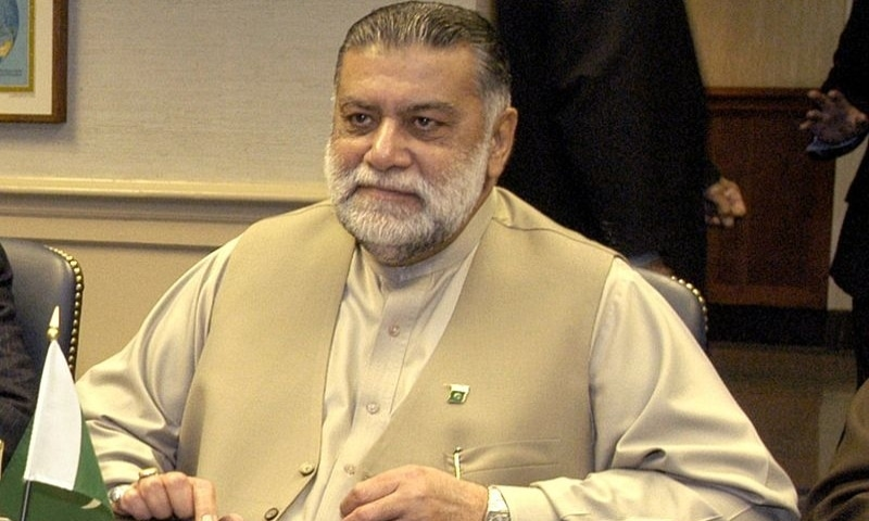 Former prime minister Mir Zafarullah Khan Jamali pictured in Washington in 2003. — Photo: US Department of Defence