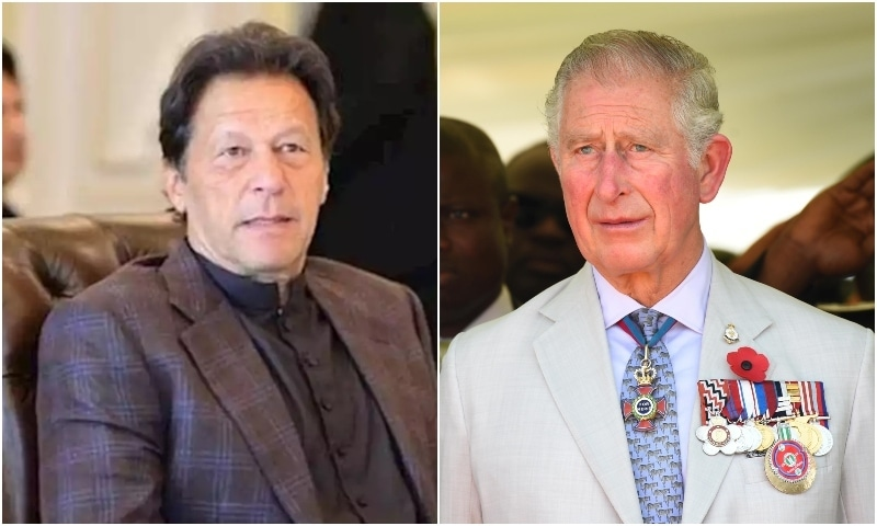 Prime Minister Imran Khan and Britain's Prince Charles held a telephone conversation on Thursday. — Photo: Radio Pakistan/Reuters/File