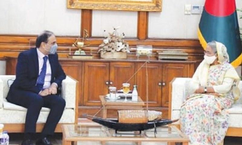 بنگلہ دیشی وزیر اعظم اور پاکستان کے ہائی کمشنر کے درمیان ڈھاکا میں غیر معمولی ملاقات ہوئی - فوٹو:ڈان