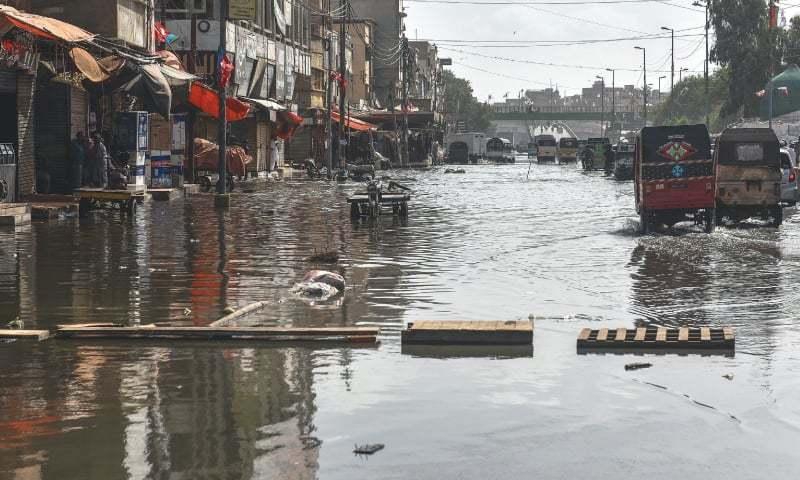 A file photo of massive sewage overflow in the Liaquatabad area. — Fahim Siddiqi/White Star