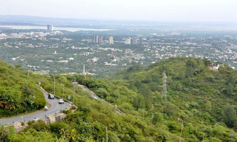 A view of Islamabad through Pir Sohawa. — APP/File