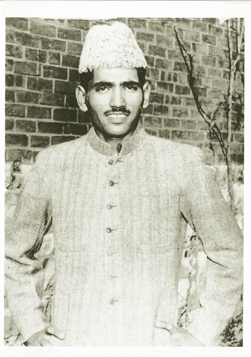 گورنمنٹ کالج لاہور میں زیر تعلیم فقیر چند کوہلی۔ 1944ء۔ تصویر: سنجے کوہلی