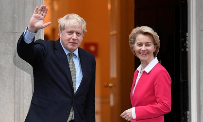 Britain's Prime Minister Boris Johnson meets European Commission President Ursula von der Leyen in London, Britain. — Reuters/File