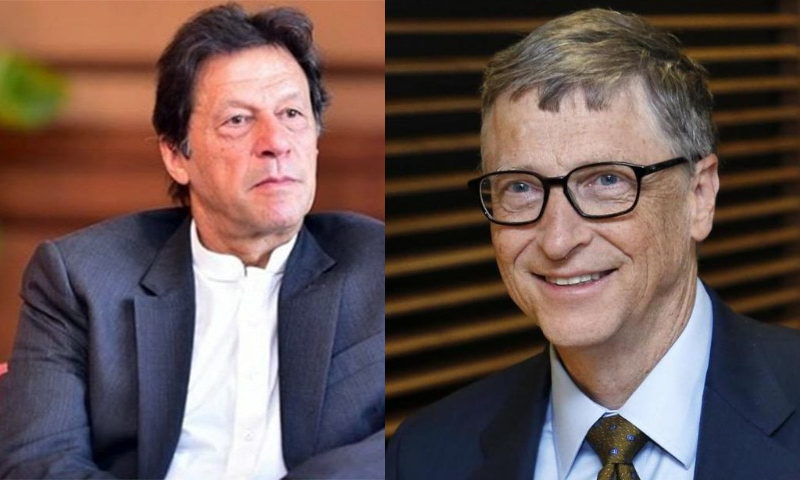 Prime Minister Imran Khan, during a telephone conversation with Bill and Melinda Gates Foundation co-chair Bill Gates on Wednesday, discussed the Covid-19 situation and polio eradication efforts in Pakistan.