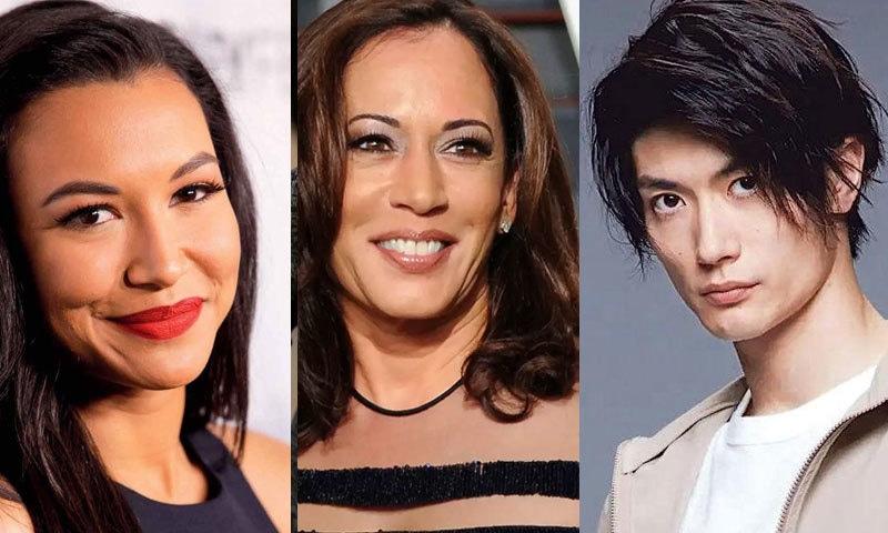 جاپانی اداکار و ہولی وڈ اداکارہ کی موت کےبعد انہیں زیادہ تلاش کیا گیا، کاملا ہیرس کو بھی زیادہ سرچ کیا گیا—فائل فوٹو: اے پی/ فیس بک/ ٹوئٹر