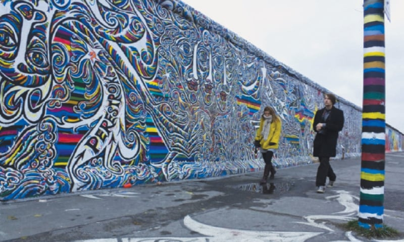 A portion of the Berlin wall