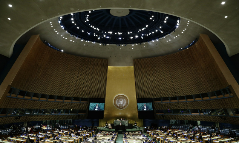 The UN General Assembly approved a resolution over Russian objections on Thursday commending progress in peace talks between the Afghan government and the Taliban while urging stepped-up efforts to tackle attacks by the Taliban, Al Qaeda, the militant Islamic State (IS) group and their affiliates.   — AP/File
