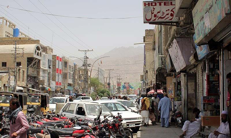 کوئٹہ شہر کا ایک منظر