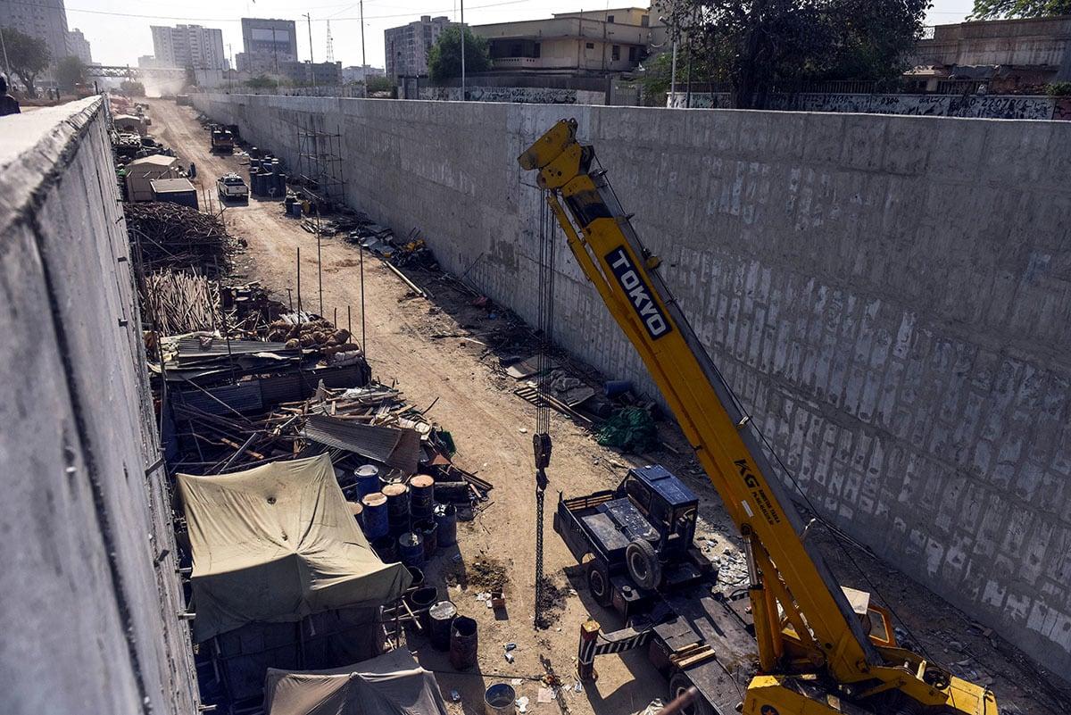 A file photo of an under-construction underpass near Karachi's Numaish intersection | Fahim Siddiqui/White Star