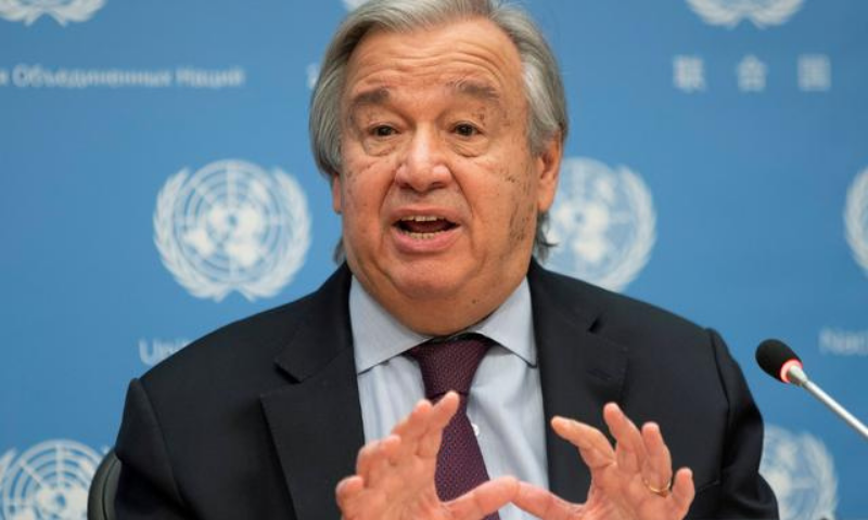 """UN chief Antonio Guterres on Saturday urged world leaders to declare a """"state of climate emergency"""" and shape greener growth after the coronavirus pandemic. — Reuters/File"""