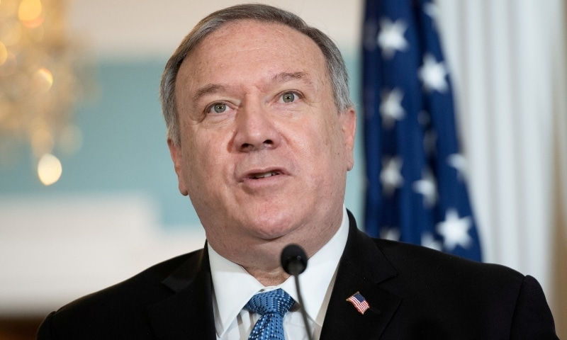 US Secretary of State Mike Pompeo speaks to the media in Washington on November 24. — Reuters