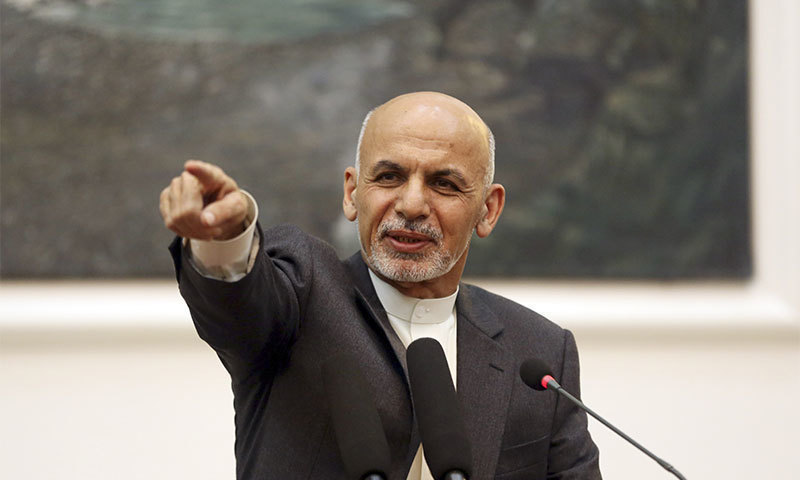 The next round of negotiations between the Taliban and the Afghan government should be held at home, President Ashraf Ghani said. — AP/File